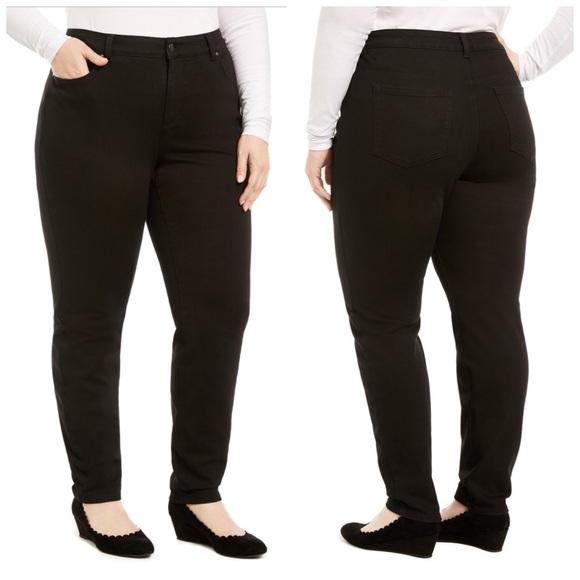 Charter Club Denim - Charter Club Black Skinny Jeans Plus Size 22W
